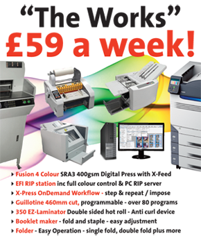Digital printing package £59 a week
