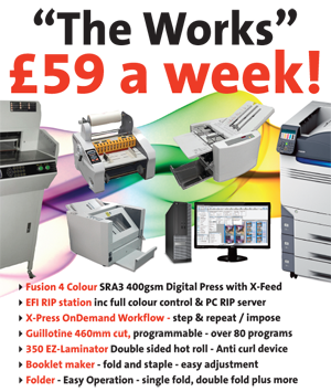 Platinum Digital Printing and Finishing Package £59 a week