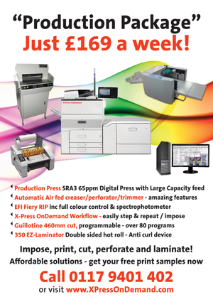 Digital printing package £169 a week