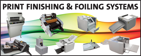 Print finishing machines for less than the rest