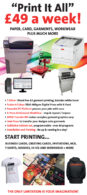 Digital Presses and packages for printing on paper, card and garments