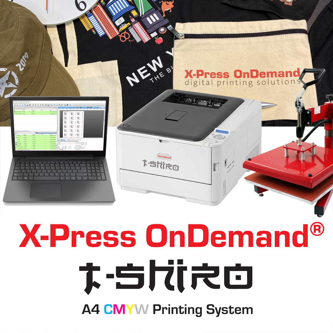 T-SHIRO A4 t-shirt and textile transfer printer